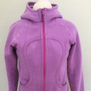 Lululemon Scuba Zip-Up Purple Hoodie, size 4